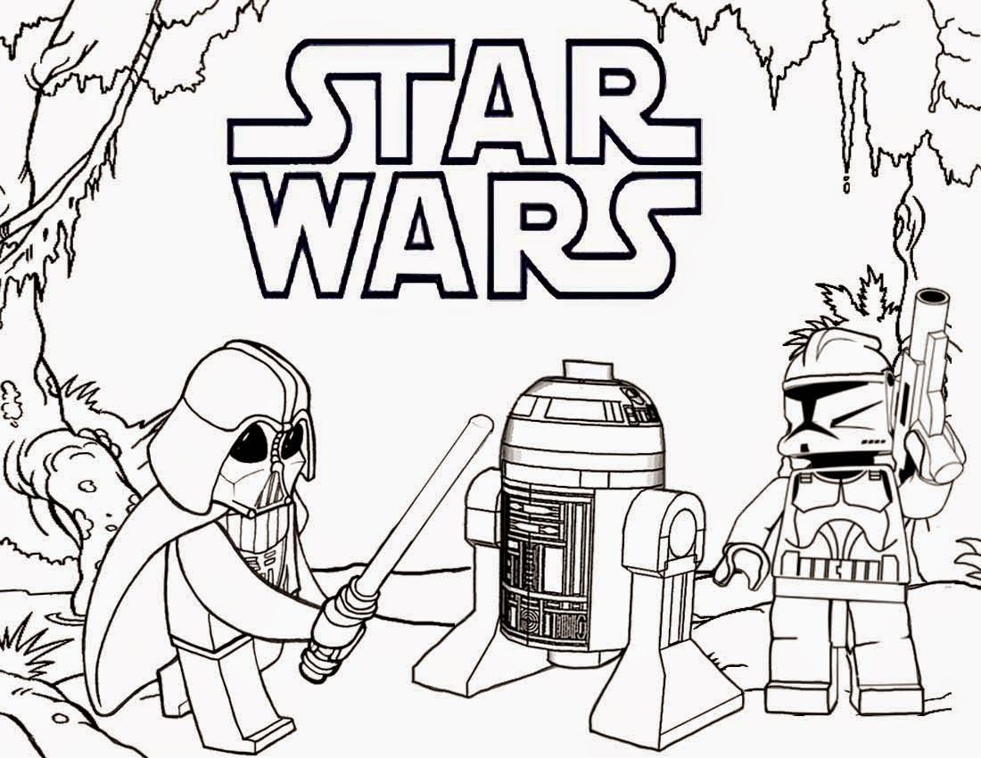 Lego Star Wars Coloring Pages Darth Vader 1