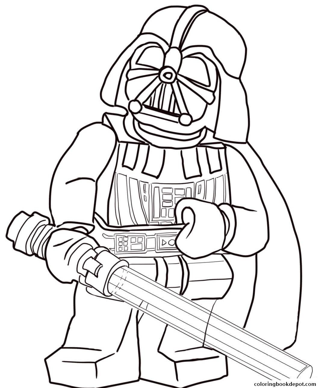 Lego Star Wars Coloring Pages Darth Vader 11