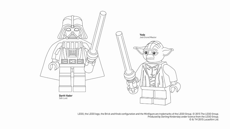 Lego Star Wars Coloring Pages Darth Vader 12