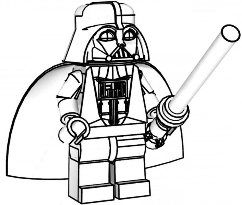 Lego Star Wars Coloring Pages Darth Vader 13