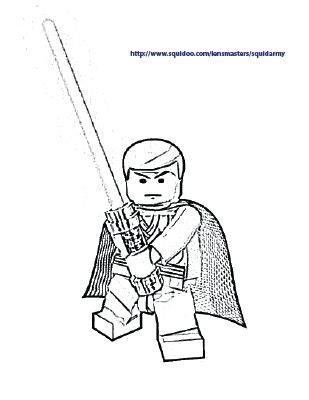 Lego Star Wars Coloring Pages Darth Vader - Part 3