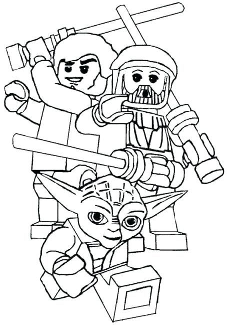 Lego Star Wars Coloring Pages Darth Vader 15