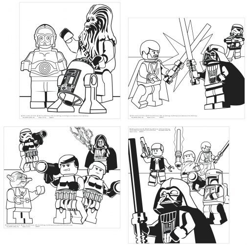 Lego Star Wars Coloring Pages Darth Vader 16
