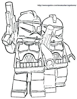 Lego Star Wars Coloring Pages Darth Vader 17