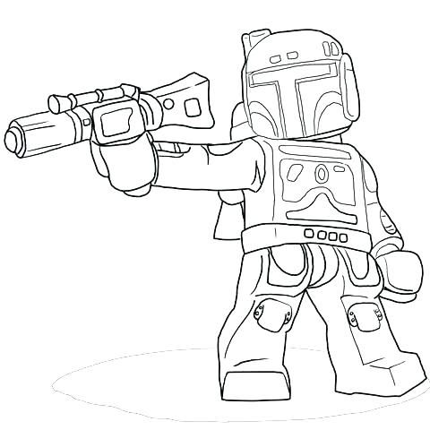 Lego Star Wars Coloring Pages Darth Vader 19
