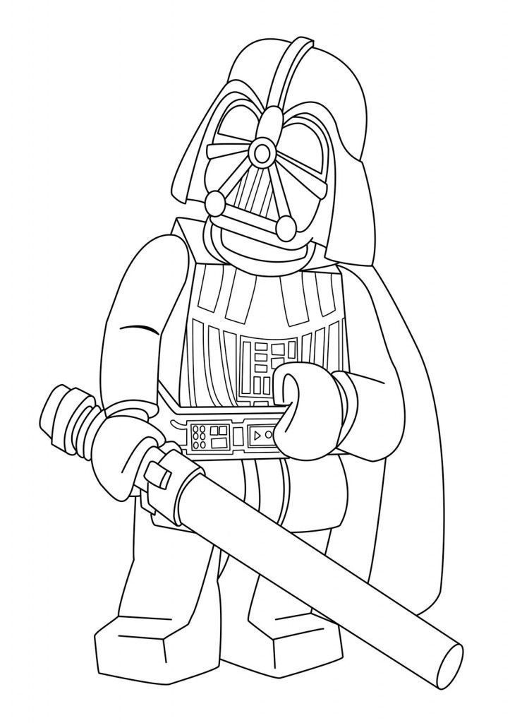 Lego Star Wars Coloring Pages Darth Vader 2