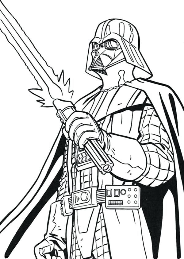Lego Star Wars Coloring Pages Darth Vader 20