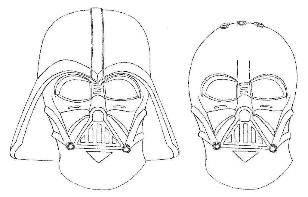 Lego Star Wars Coloring Pages Darth Vader 3