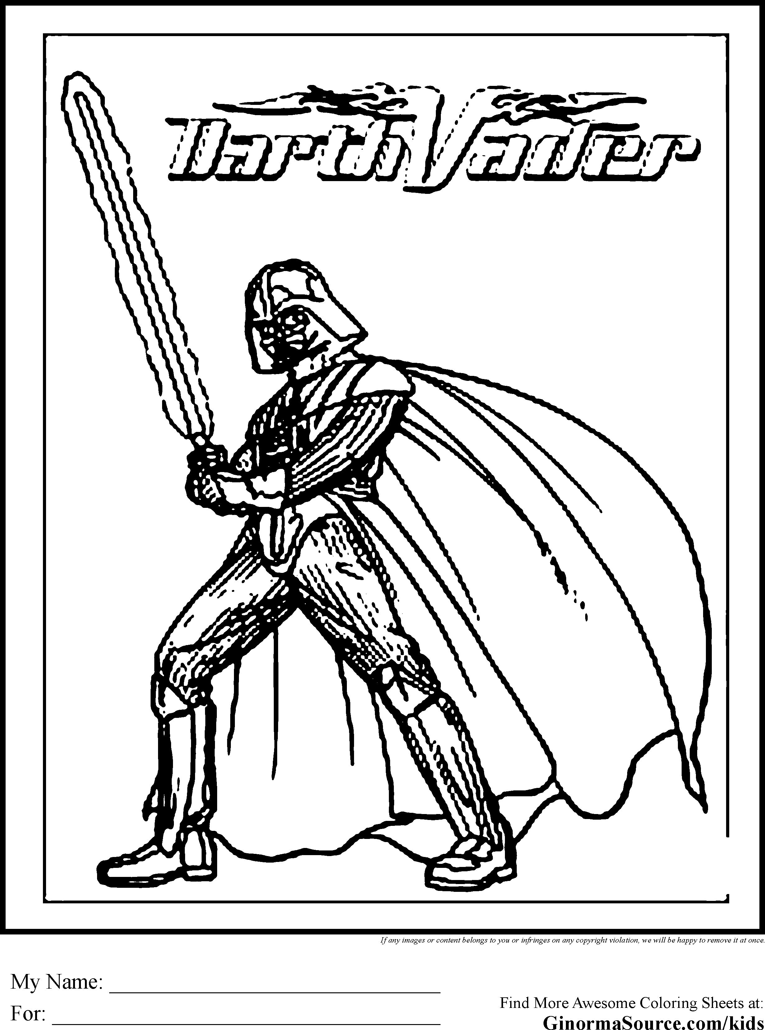 Lego Star Wars Coloring Pages Darth Vader 4