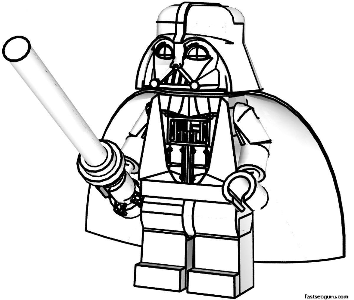 Lego Star Wars Coloring Pages Darth Vader 5