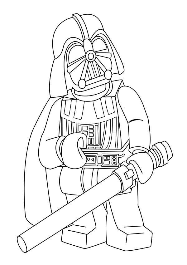 Lego Star Wars Coloring Pages Darth Vader 7