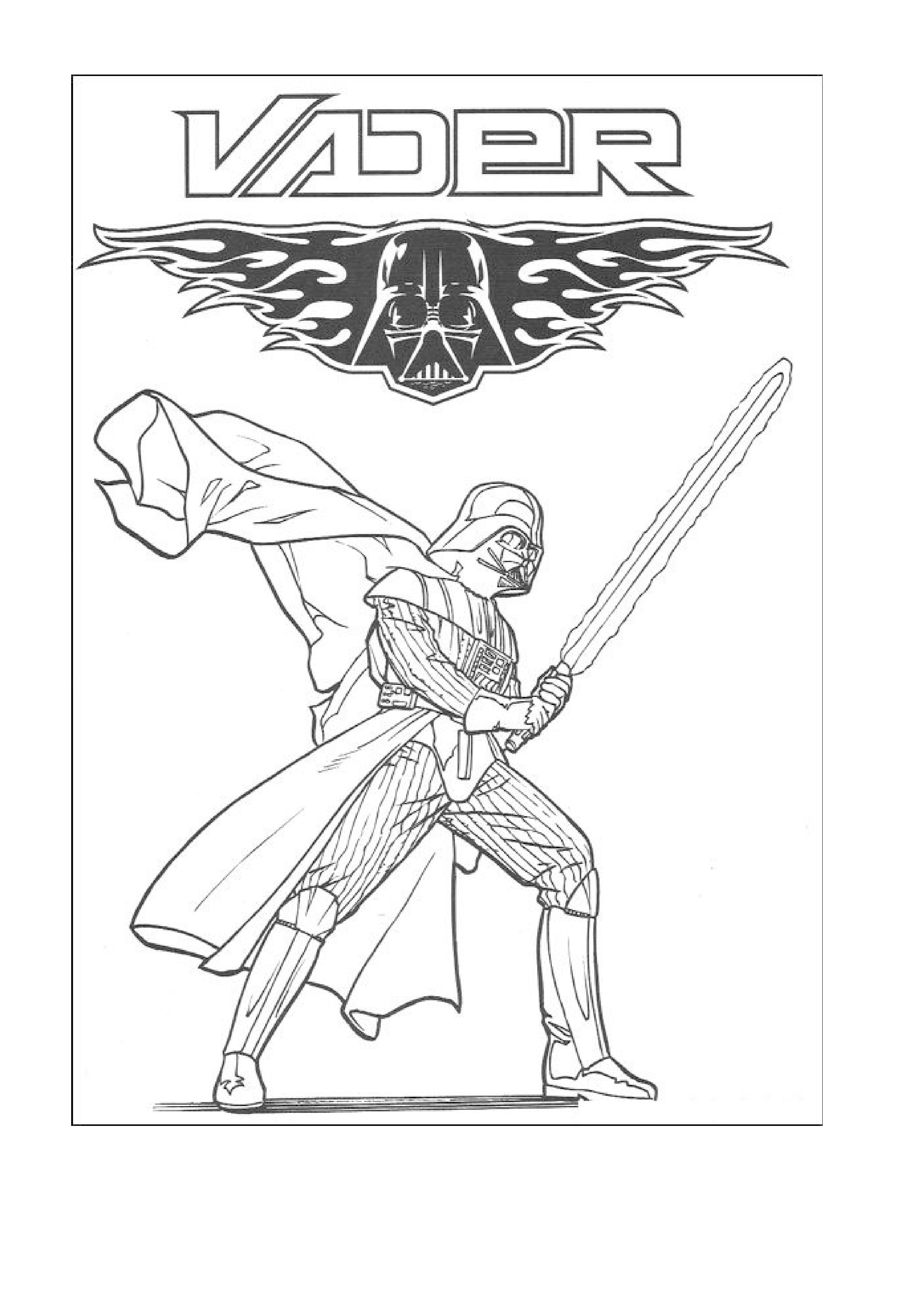 Lego Star Wars Coloring Pages Darth Vader 8