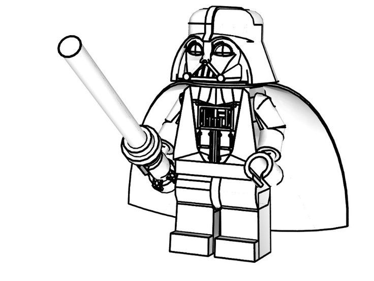 Lego Star Wars Coloring Pages Darth Vader 9