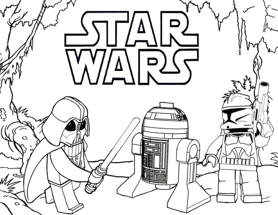Lego Star Wars Coloring Pages R2D2 12