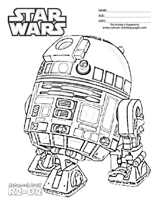 Lego Star Wars Coloring Pages R2D2 15