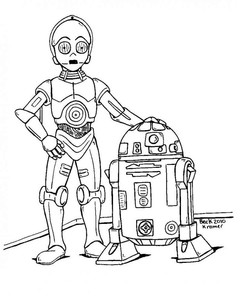 Lego Star Wars Coloring Pages R2D2 6