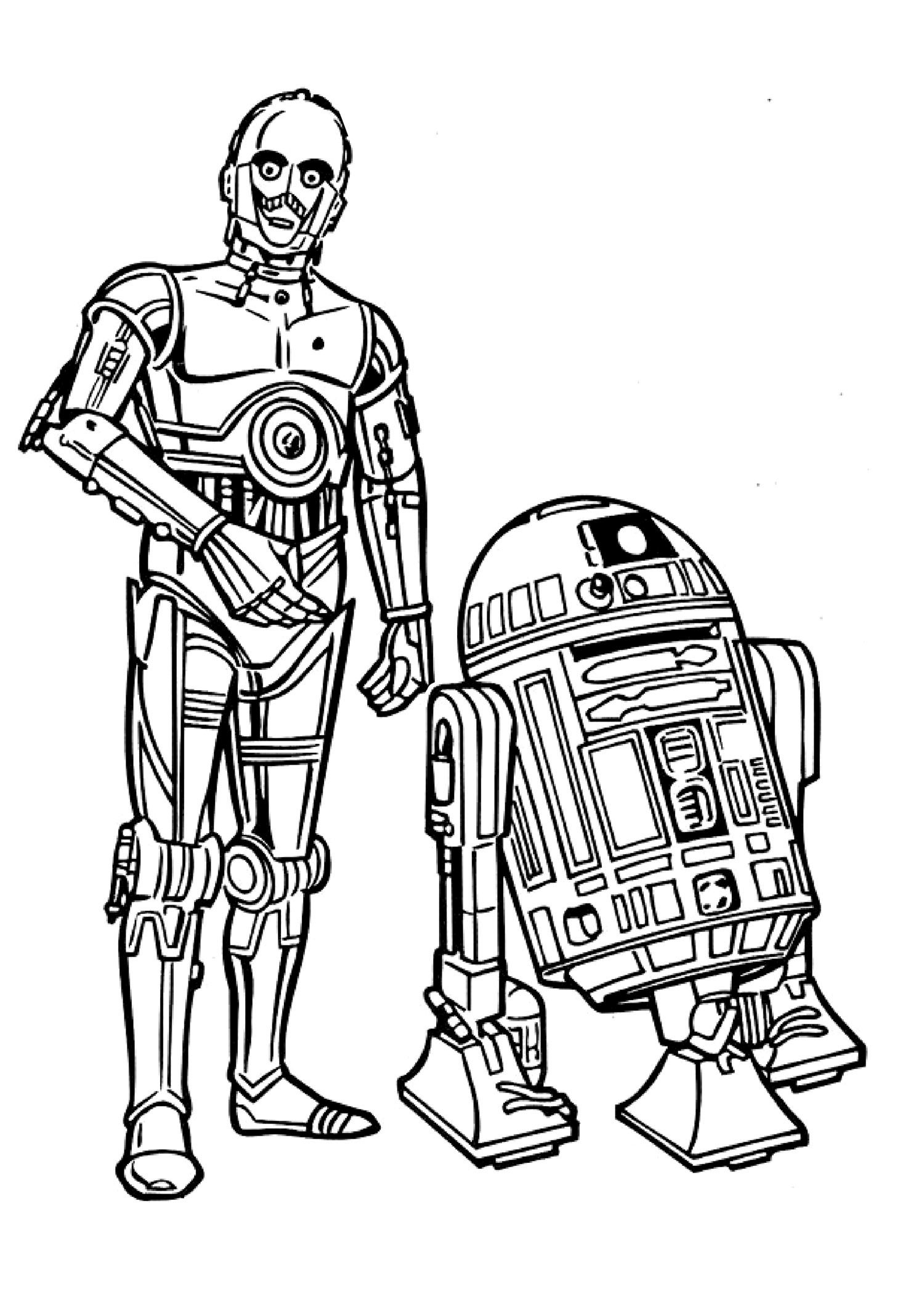 Lego Star Wars Coloring Pages R2D2 8