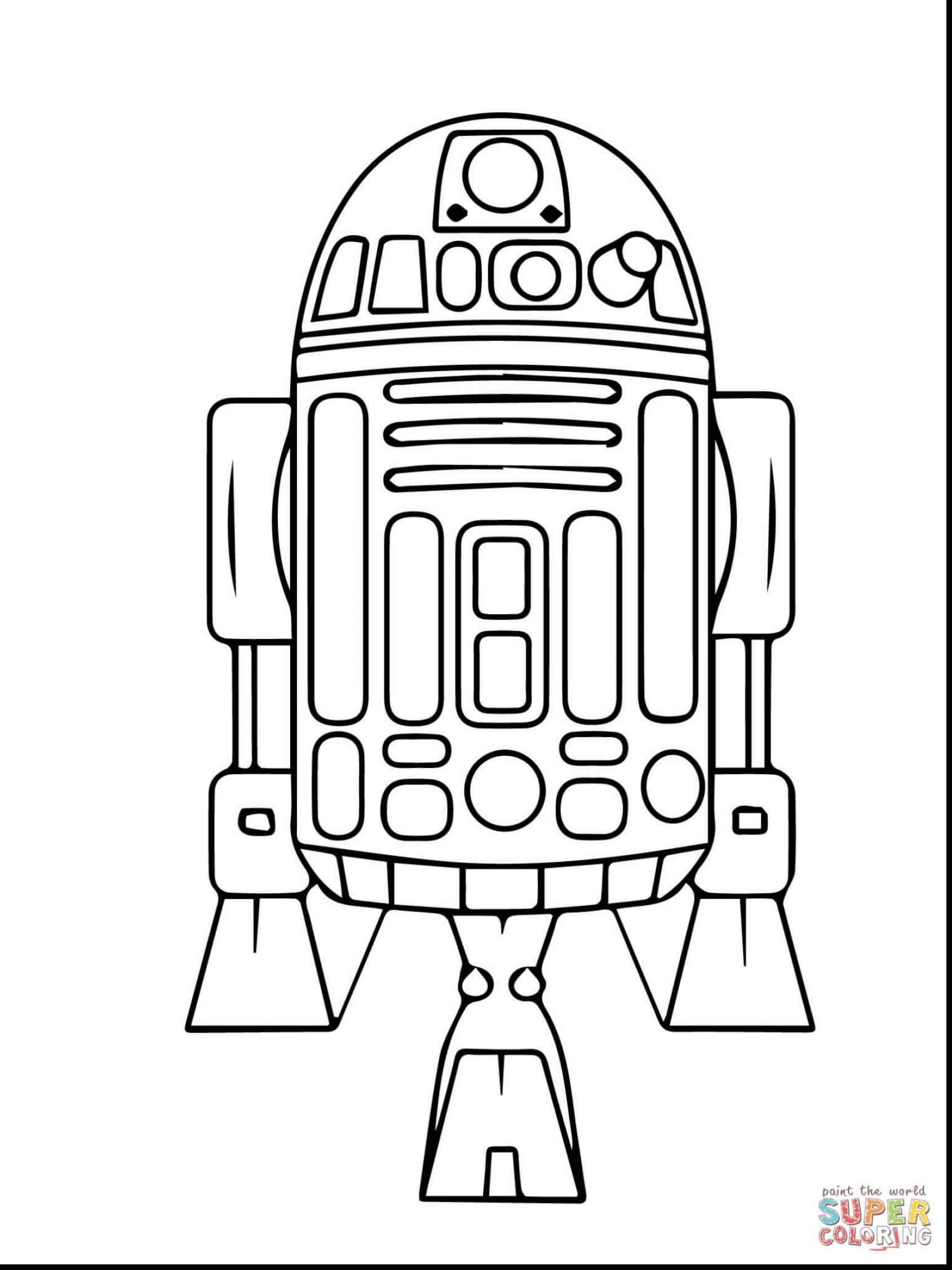 Lego Star Wars Coloring Pages R2D2 9