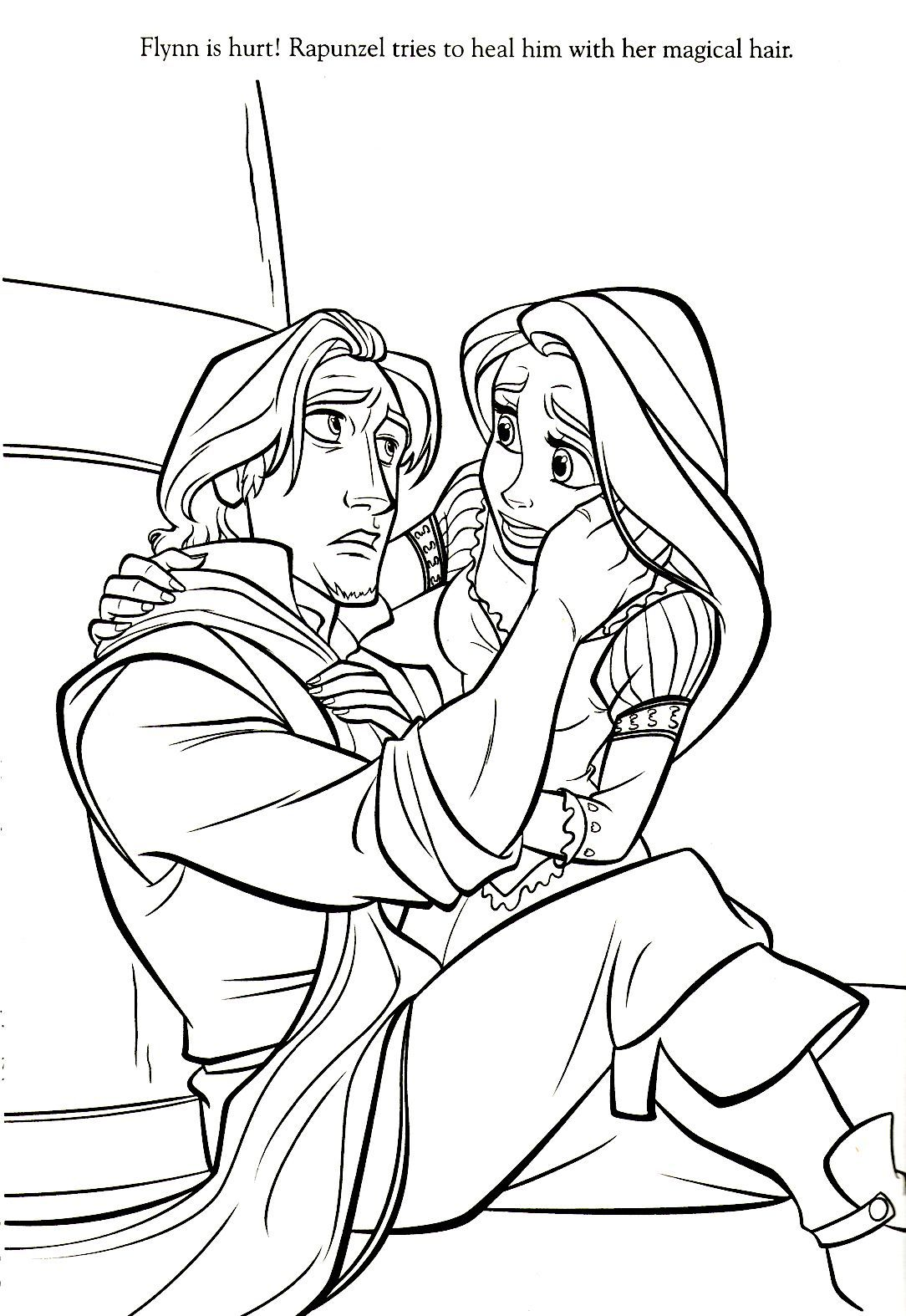 Rapunzel Coloring Pages 1