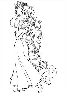 Rapunzel Coloring Pages 10