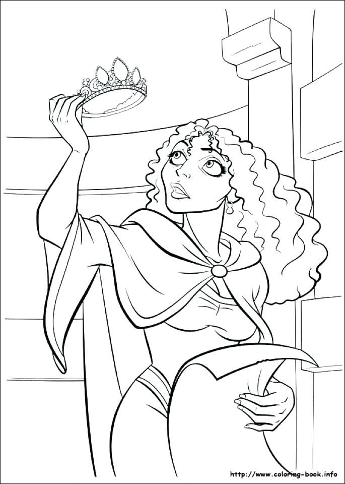 Rapunzel Coloring Pages 11