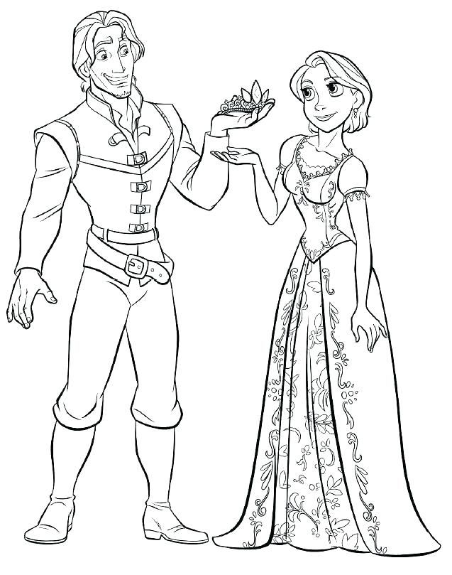 Rapunzel Coloring Pages 12