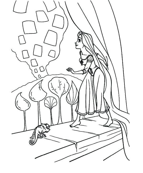 Rapunzel Coloring Pages 15