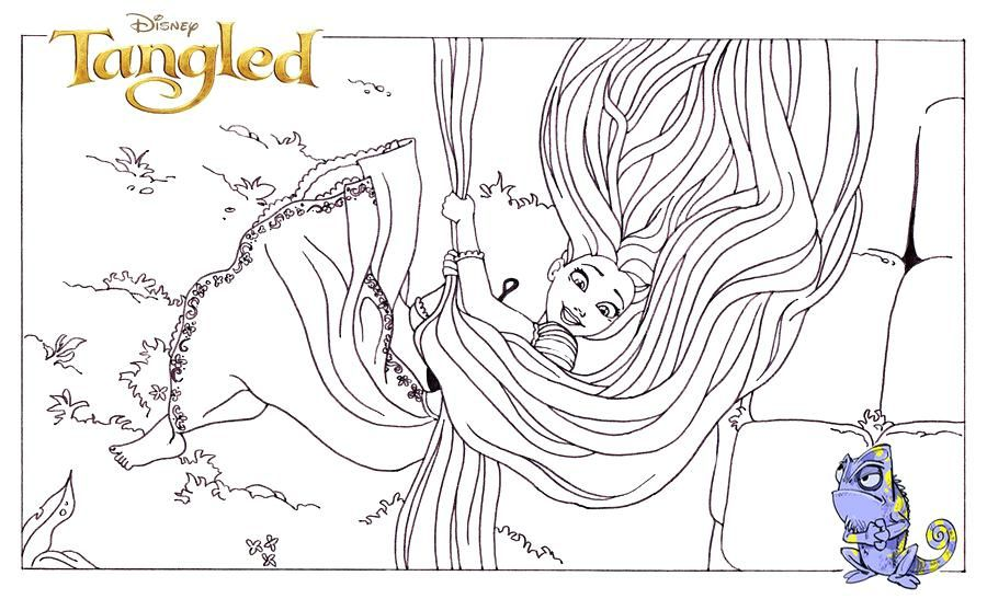 Rapunzel Coloring Pages 16