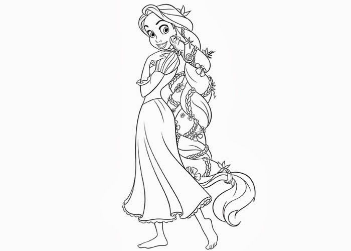 Rapunzel Coloring Pages 19
