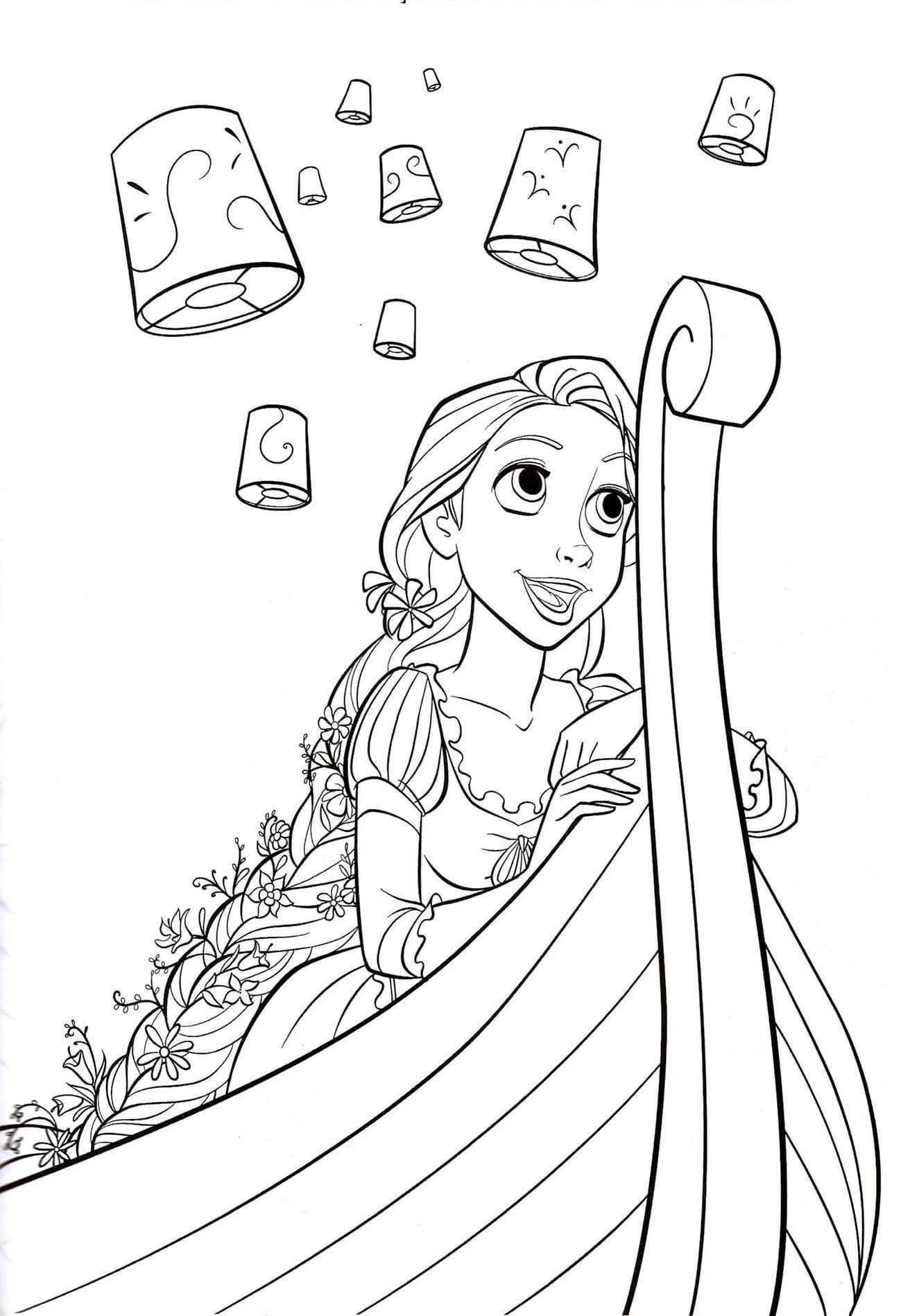 Rapunzel Coloring Pages 2