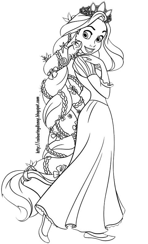 Rapunzel Coloring Pages 20