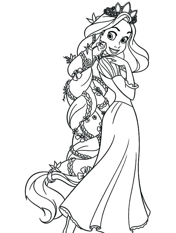 Rapunzel Coloring Pages 21
