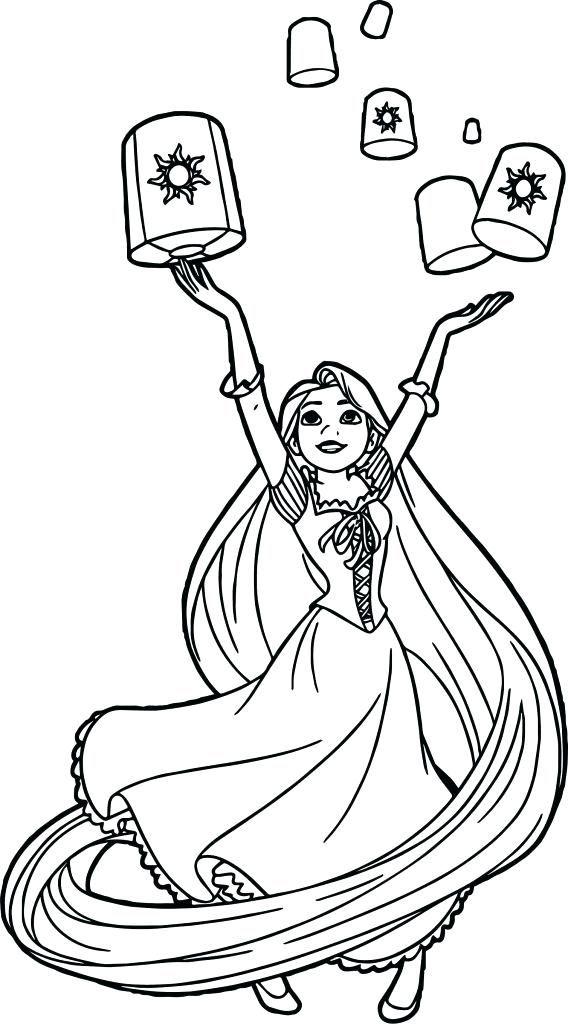 Rapunzel Coloring Pages 23