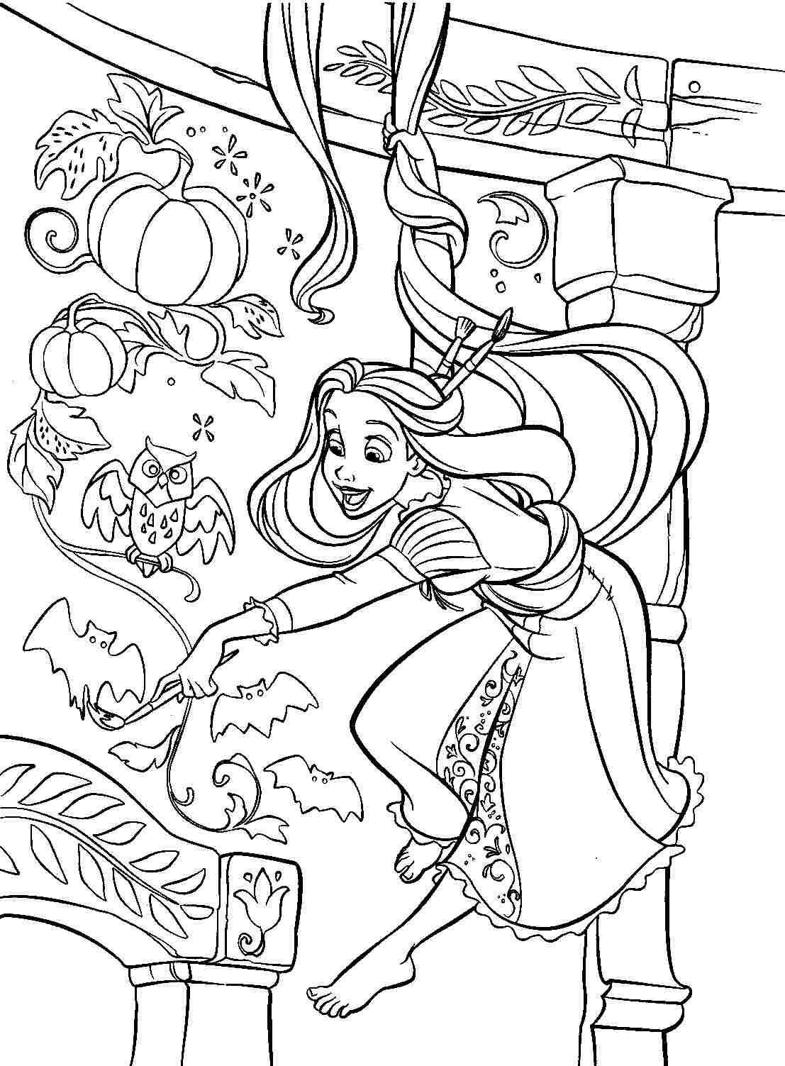 Rapunzel Coloring Pages 27