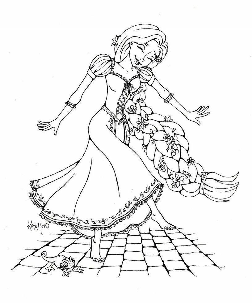 Rapunzel Coloring Pages 29