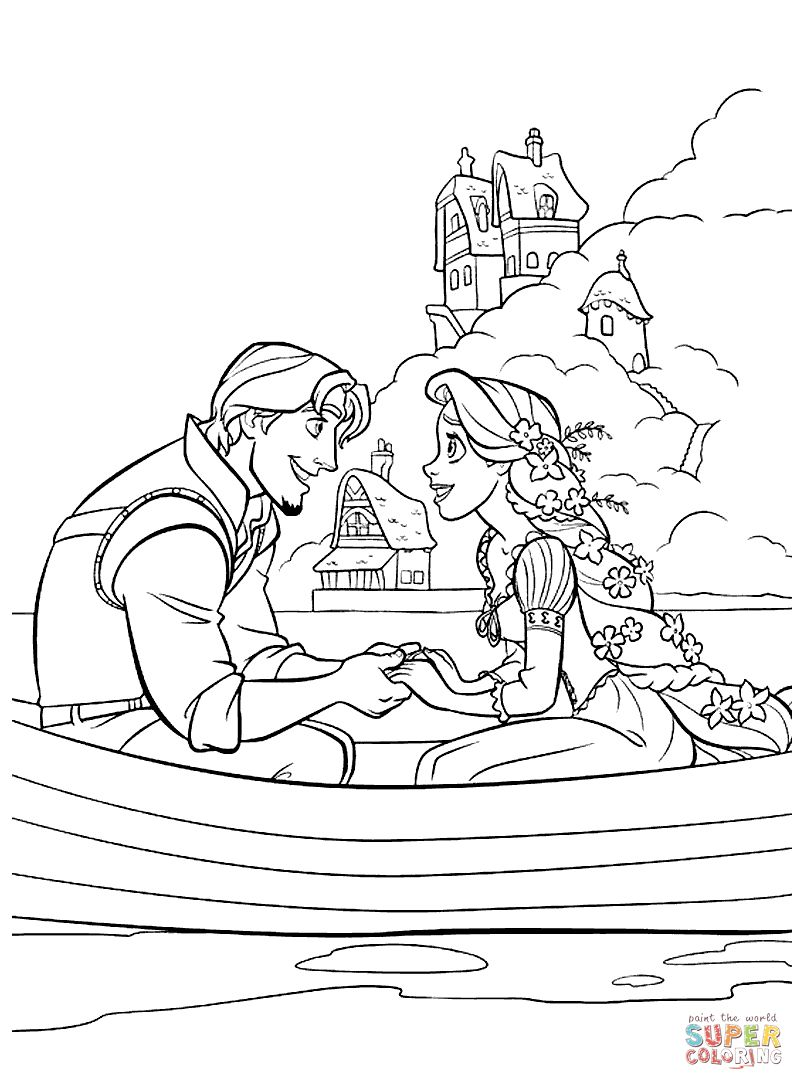 Rapunzel Coloring Pages 31