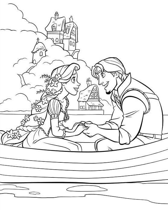 Rapunzel Coloring Pages 33