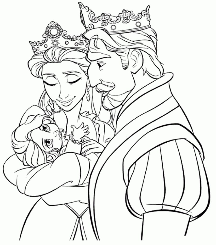 Rapunzel Coloring Pages 34