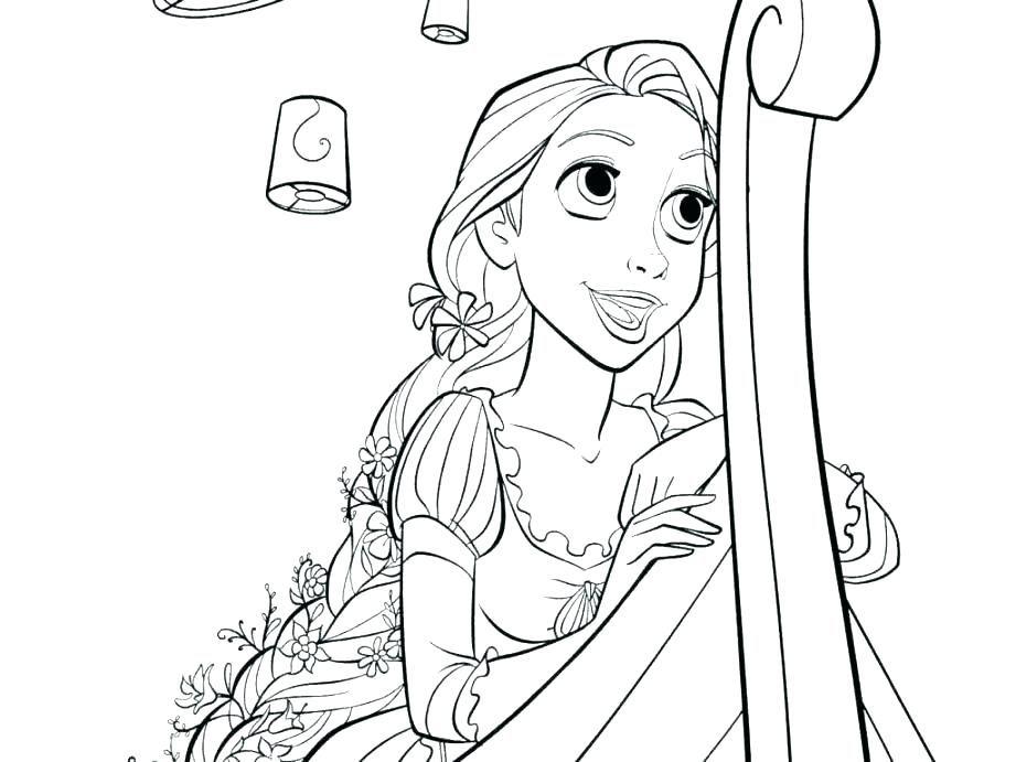 Rapunzel Coloring Pages 36