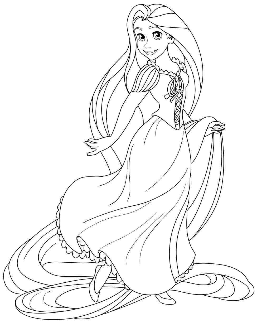 Rapunzel Coloring Pages 37