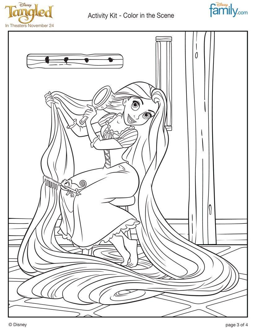 Rapunzel Coloring Pages 38