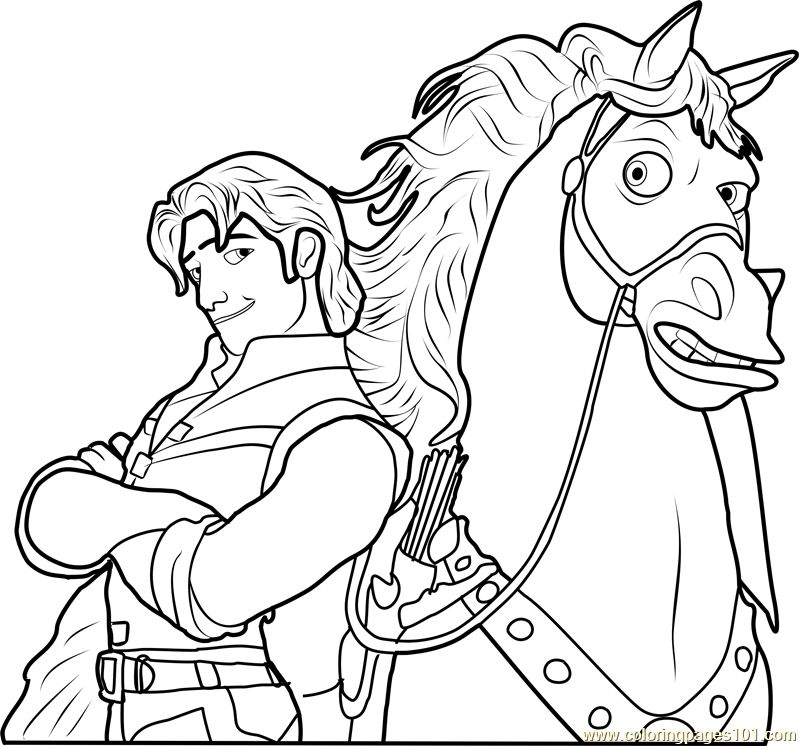 Rapunzel Coloring Pages 4
