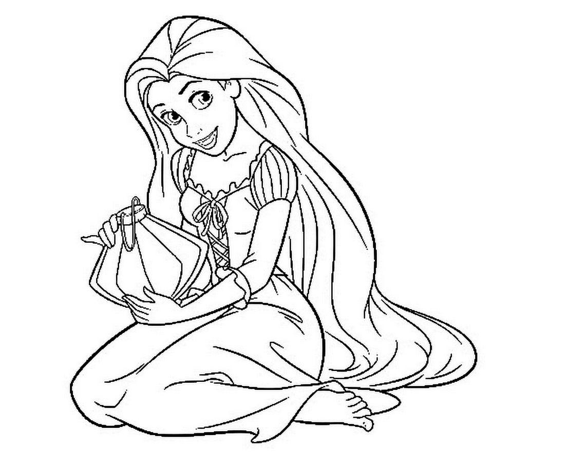 Rapunzel Coloring Pages 41