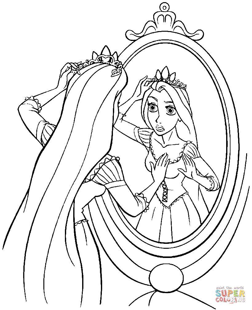 Rapunzel Coloring Pages 43