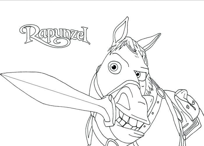 Rapunzel Coloring Pages 44