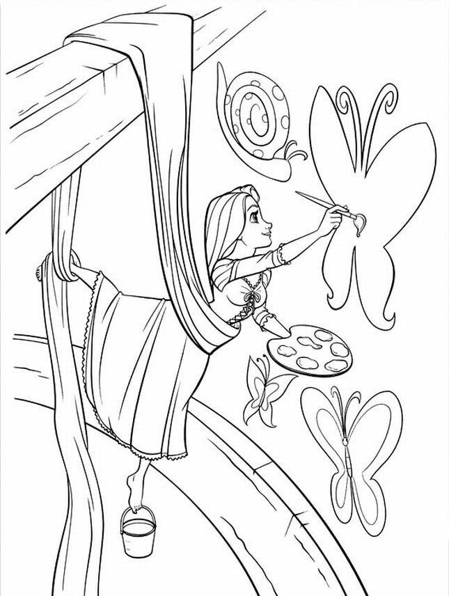 Rapunzel Coloring Pages 45