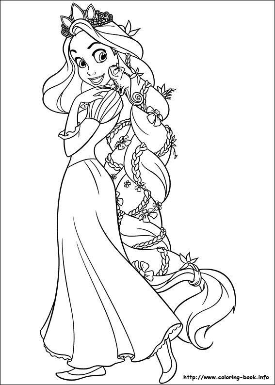 Rapunzel Coloring Pages 47