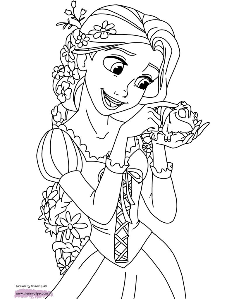 Rapunzel Coloring Pages 59