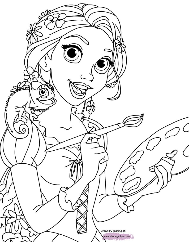 Rapunzel Coloring Pages 60