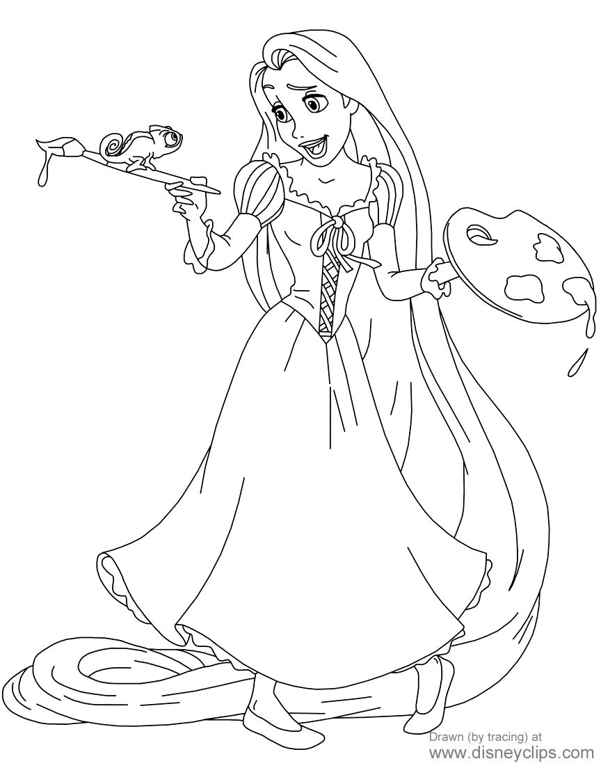 Rapunzel Coloring Pages 61